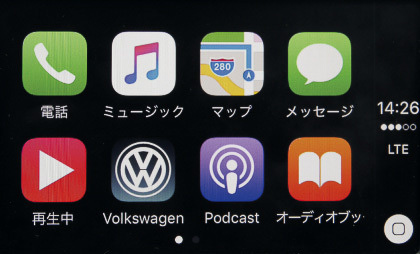 Apple CarPlay画面