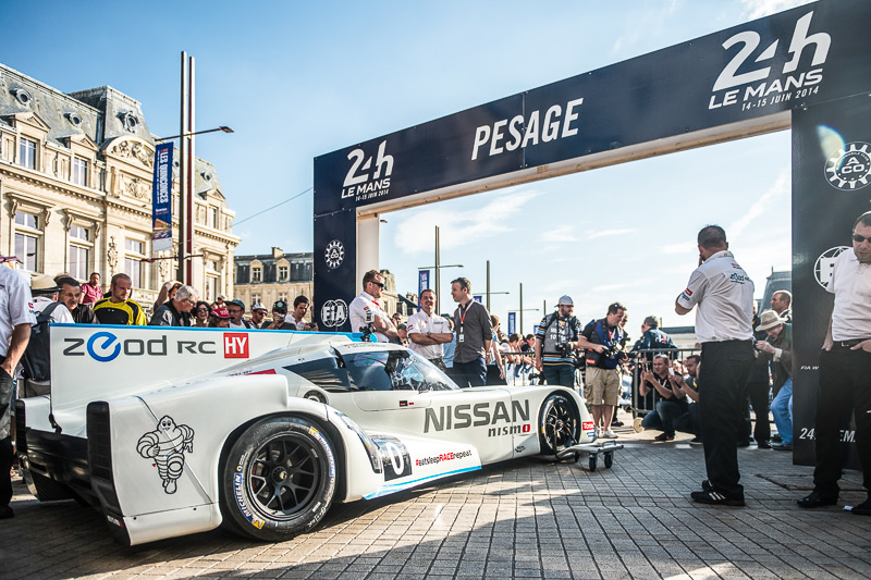 2014年のル・マン24時間レースに出場した「Nissan ZEOD RC(Zero Emission On Demand Racing Car)」
