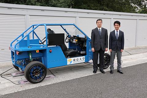 ブリヂストンや東京大学など、タイヤにモーターと受電機能を組み込んだ「第3世代走行中ワイヤレス給電インホイールモータ」説明会