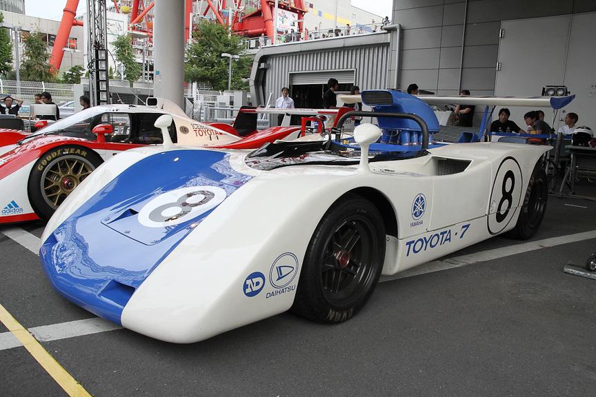 トヨタ7。1969年製のトヨタ初のプロトタイプレーシングカーだ トヨタ7。1969年製のトヨタ初