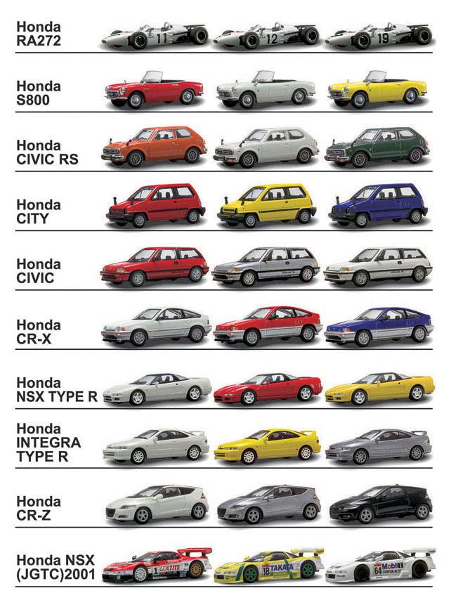 [画像]京商、「Honda ミニカーコレクション」 / ホンダ初のF1参戦車両「RA272」をはじめS800、NSX ...