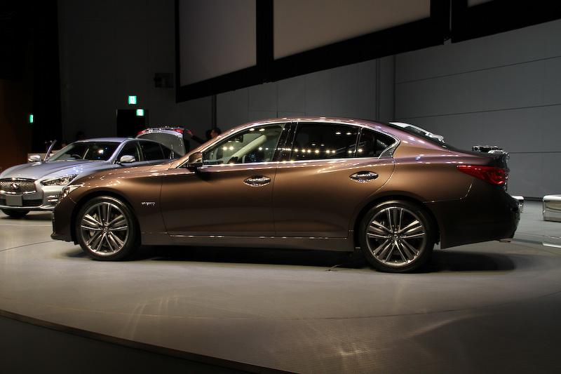 画像 日産、ハイブリッドモデルに生まれ変わった新型「スカイライン」、燃費18 4km L ガソリンモデルとして