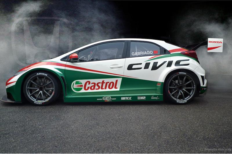 FIA世界ツーリングカー選手権に参戦する「Honda Civic WTCC」の2014年型マシン