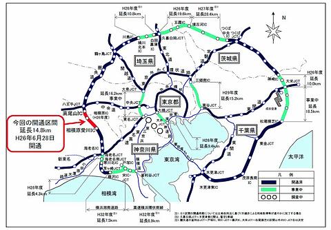 祝!!圏央道開通、東名高速と中央道を結ぶ圏央道を写真で紹介 - Car Watch
