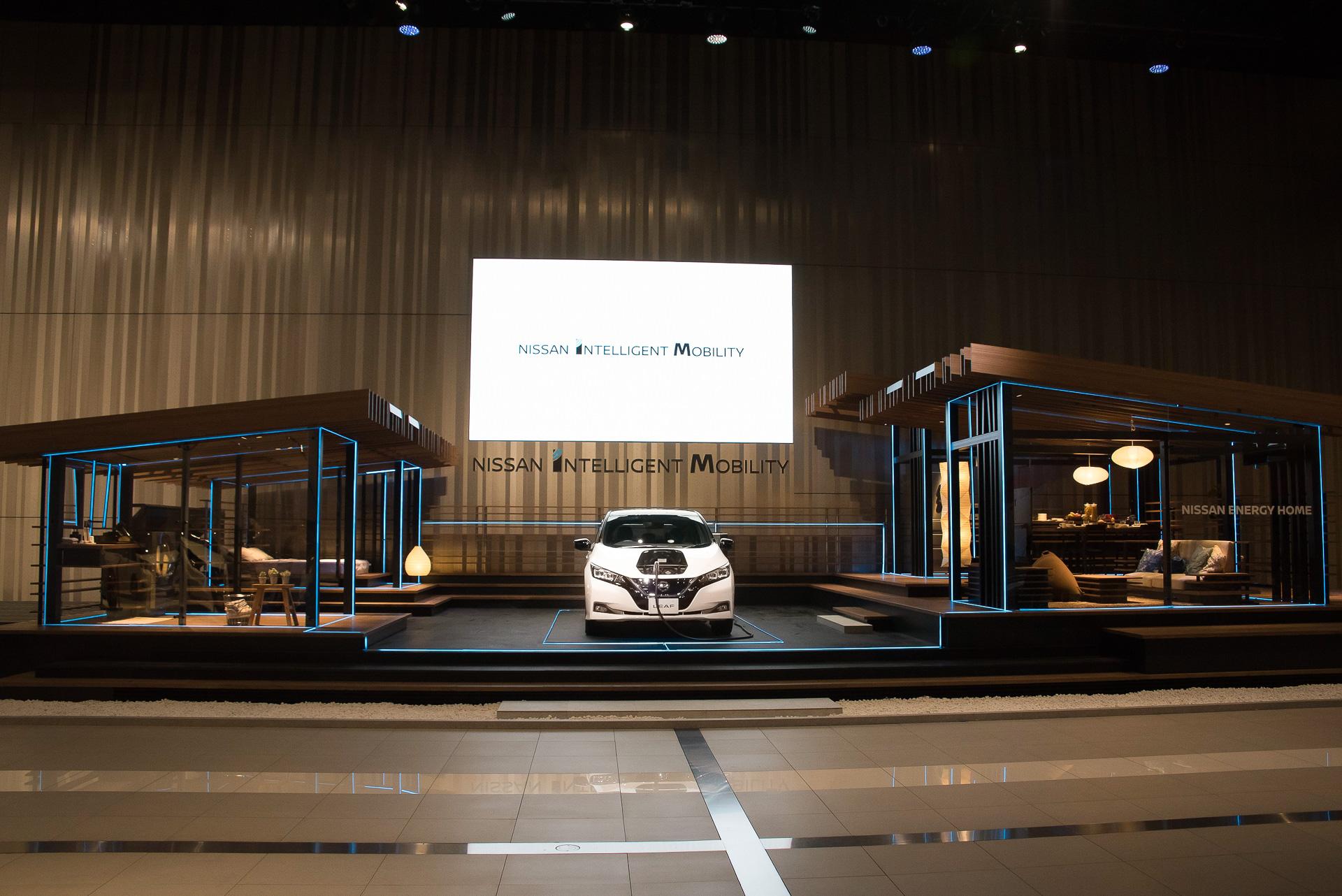 日産グローバル本社ギャラリーに家が。V2Hシステム「Nissan Energy Home(ニッサン エナジー ホーム)」公開