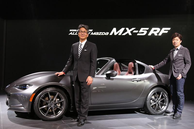【】【インタビュー】マツダ「MX-5 RF」開発者インタビュー